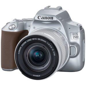 Foto 2 Kit Fotocamera Reflex Canon EOS 250D Silver + Obiettivo 18-55mm IS STM – Prodotto in Italiano
