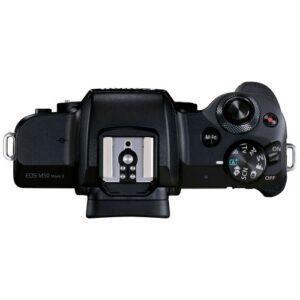 Foto 3 Kit Fotocamera Mirrorless Canon EOS M50 Mark II + Obiettivo EF-M 15-45mm IS STM Black – Prodotto in Italiano