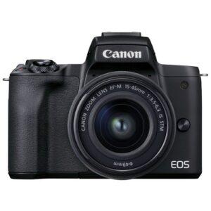 Foto principale Kit Fotocamera Mirrorless Canon EOS M50 Mark II + Obiettivo EF-M 15-45mm IS STM Black – Prodotto in Italiano