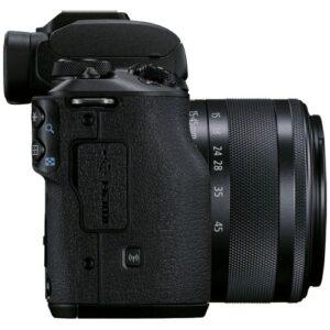 Foto 6 Kit Fotocamera Mirrorless Canon EOS M50 Mark II + Obiettivo EF-M 15-45mm IS STM Black – Prodotto in Italiano