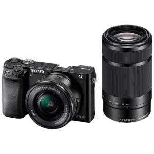Foto 2 Kit Fotocamera Mirrorless Sony A6000YB + Obiettivo 16-50mm + Obiettivo 55-210mm Black – Prodotto in Italiano
