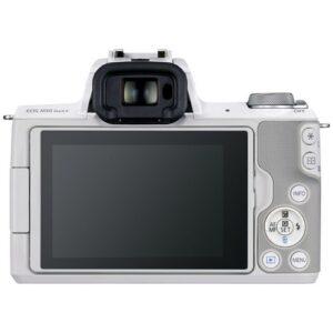 Foto 2 Kit Fotocamera Mirrorless Canon EOS M50 Mark II + Obiettivo M15-45mm Bianco – Prodotto in Italiano