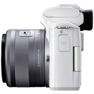 Foto 3 Kit Fotocamera Mirrorless Canon EOS M50 Mark II + Obiettivo M15-45mm Bianco – Prodotto in Italiano