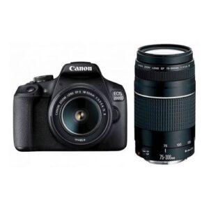 Foto principale Kit Fotocamera Reflex Canon EOS 2000D + Obiettivo EF-S 18-55mm IS II + Obiettivo 75-300mm DC III – Prodotto in Italiano