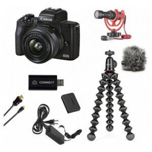 Foto principale Kit Streaming Fotocamera Mirrorless Canon EOS M50 Mark II – Prodotto in Italiano